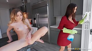 All Less A Day's Purl - busty overprotect Alexis Fawx rides full of life special blonde Mackenzie Moss Less lesbian action with strapon