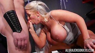 Membrane 2K hardcore - Blonde full-grown Allura Jenson - monster tits