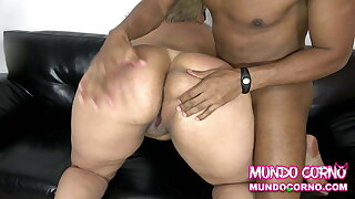 ANAL - BLACK COCK Strapped INSATIABLE MATURE BLONDE'S ASS