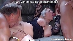 Apropos gangbang action with Teresa the horniest mature lady we met