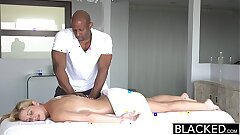 BLACKED Hot Southern Blonde Takes Chunky Black Cock