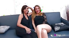 Chatting with 'em: Natalia and Lucia, two hot milfs who are hungry be advisable for young meat