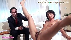 Milf shows their way bizarre pussy for Andrea Diprè