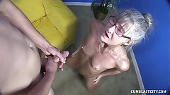Lickerish Granny Gets Splattered