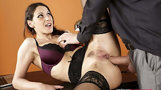 Hot Secretary's BUTT DESTROYED By Chunky Dick Boss