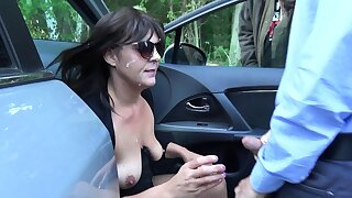Slutwife Marion gangbanged by 20 strangers at a rest territory