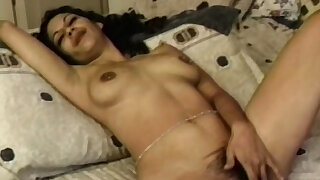 Beautiful Babe Gets Her Hairy Cunt Fucked Hard