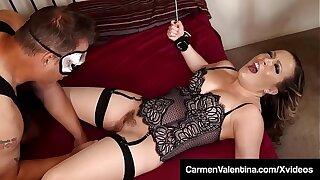 Delimit Babe Carmen Valentina Fucked By Masked Dude!
