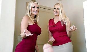 Two Stunning Blonde MILFs Sort out To Rock Stepson's World - Vanessa Cage, Rachael Cavalli
