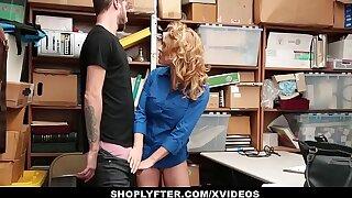 Shoplyfter - Hot MILF (Krissy Lynn) Dominates Young Thief For Pilferage
