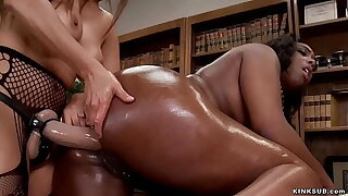 Huge black pain in the neck lesbian anal fucked