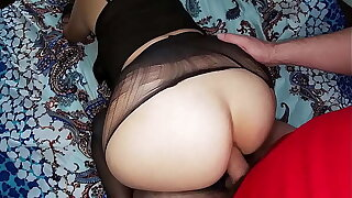 Mature stepmom all over big ass gave stepson blowjob and anal sex