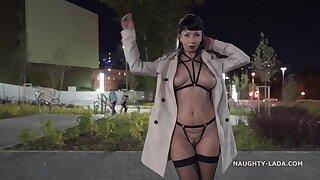Unpropitious ignorance MILF exhibitionist flashing downtown - outdoor resuscitate fetish