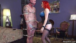 Giving breasts cougar escort pegging man