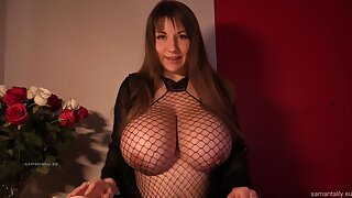 Samanta lily cum on fishnet zenith - Samanta lily