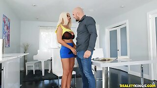 A student gives his hot busty tutor a specification in hard fucking.